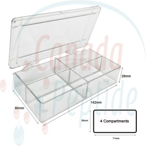 MultiBox™, 4 compartments, 38 x 71 x 28mm each (11/2 x 2 13/16 x 11/8 in.), for various gels including half-mini protein gels