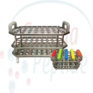 Stainless Steel Autoclave & Incubator Rack, Holds 41 x 15mL tubes